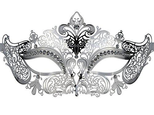 Einfache und elegante Maske Metall Lady Masquerade Halloween Mardi Gras Geheimnisvolle Party (Elegante Masken Mardi Gras)