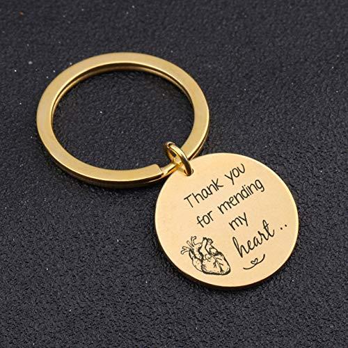 DCFVGB Die Gestempelte Hand Danken Ihnen, Mein Herz Zu Bessern Keychain Doktor Key Fobs Gift Medical Anatomical Doctor Key Ring -