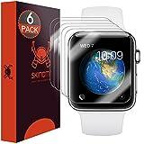 Skinomi SK27508 - Protector de pantalla, para Reloj inteligente Apple Watch Series 2 & Series 3, Transparente, 6 pieza(s)