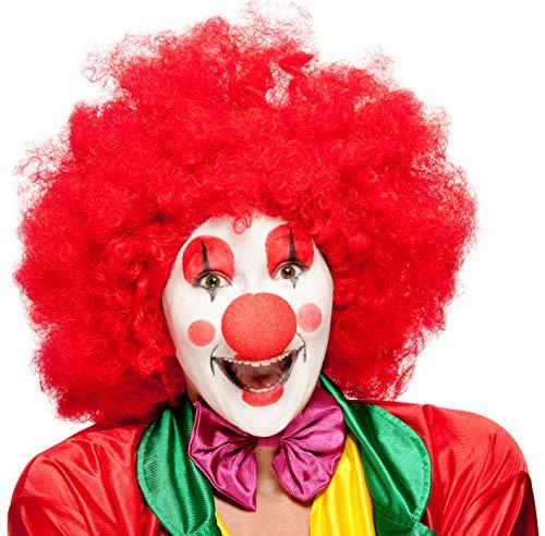 Balinco Rote XXL Afro Clown Perücke für Herren & Damen geeignet als Ergänzung für das Clowns ()
