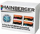 4x XXL Toner Set für Samsung CLP360/CLP365, kompatibel zu LS-CLT-K406S, LS-CLT-C406S, LS-CLT-M406S, LS-CLT-Y406S, für CLX-3300, CLX-3305, CLX-3305FN, CLX-3305FW, CLX-3305W