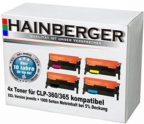 4x XXL Toner Set für Samsung CLP360/CLP365, kompatibel zu LS-CLT-K406S, LS-CLT-C406S, LS-CLT-M406S,...