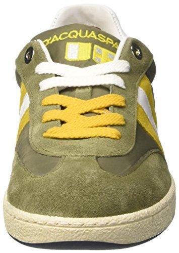 D'Acquasparta Ghiberti, Sneaker a Collo Basso Uomo Verde (Verde/Giallo)
