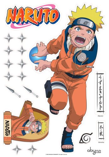 ABYstyle - ABYDCO081_B - Décoration - Naruto - Planche de Stickers - Muraux King Size