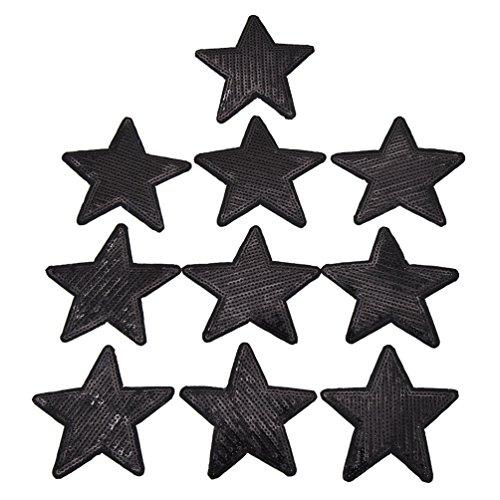 Kesheng 10pcs Parche Lentejuelas Diseño Estrella
