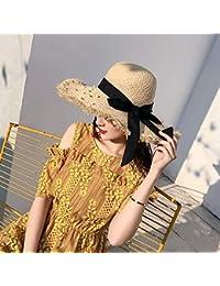 Casquillo de los sombreros de moda Viaje salvaje Sombrero de paja femenino  de Lafite Sombrero de playa Sombrero… da3f46e96d2