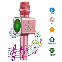 Microphone Karaoke Wireless Xpassion Portable Bluetooth Karaoke Player Speaker For Apple iPhone iPad Android Smartphone Or Pc, Home KTV Singing Recording Outdoor Party Muisc Playing Anytime