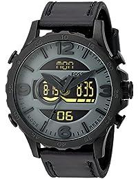 Fossil correa de reloj JR1520 Cuero Negro 24mm + costura negro(Sólo reloj correa - RELOJ NO INCLUIDO!)