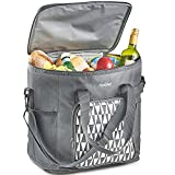 VonShef 30L Kühltasche/Große Faltbar Picknick-Tasche mit Isolierung - Graue
