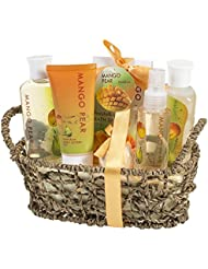 Coffret cadeau Beauté - Set de bain parfum Mangue et Poire