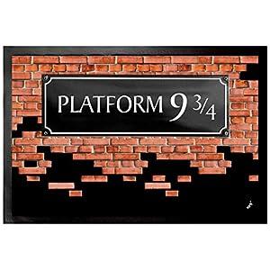1art1 Muros De Ladrillos - Plataforma 9 3/4 Felpudo Alfombra (60 x 40cm) 27