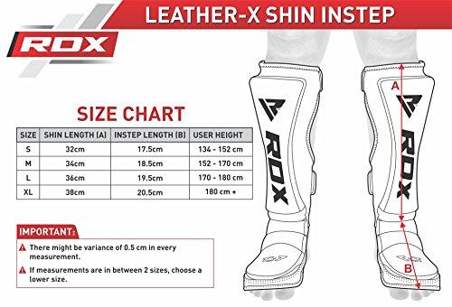 RDX Boxen Schienbeinschutz Schienbein Kampfsport Muay Thai Kickboxen Schienbeinschoner Beinschützer Rot