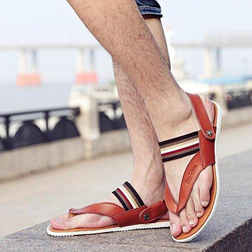 GLTER Herren Flip Flops Breathable Slingback Sandalen Neue Slippers Sommer Fashion Casual Beach Pool Schuhe Brown