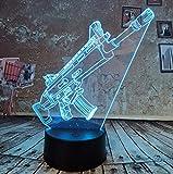 Nachtlicht New Battle Royale Spiel Cool 3D Led Lampe PUBG TPS SCAR-L Nachtlicht 7 Gradienten Auto Farbe Kind Licht Geburtstag Neujahr Geschenk