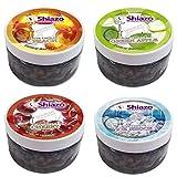 DXP Shiazo Dampfsteine Shisha Mixed Pack 4 Sorten Wasserpfeife Stein Granulat Nikotinfreier Tabakersatz