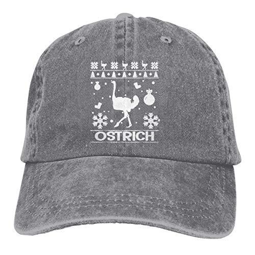 Hoswee Baseballmütze Hüte Kappe Ostrich Christmas Ugly Unisex Truck Baseball Cap Adjustable Hat Sandwich Peaked Caps Sun Hat