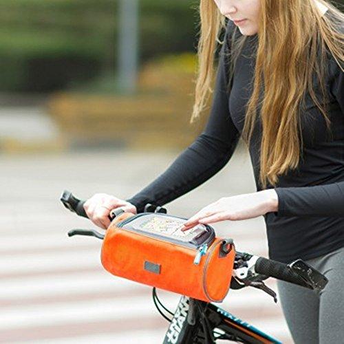Lenkertasche Berührungsempfindlicher Bildschirm Fahrradtasche Reiten Einer Handytasche Black
