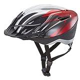 KED Casco da bici City nella taglia XXL con il colore Red Silver, estremamente Ben Scarichi Allrounder Casco in robusta maxshell® di tecnologia