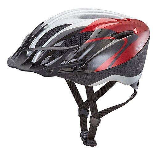 KED Fahrradhelm City in der Größe XXL mit der Farbe Red Silver, Extrem Gut Belüfteter Allrounder-Helm in Robuster maxSHELL- Technologie