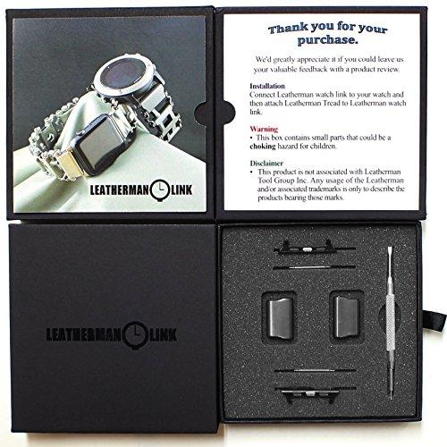 Link Edelstahl-Verbindungsadapter für Leatherman-Laufflächenuhr Tread LT Apple-Uhr 44mm / 42mm