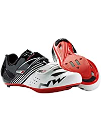 Northwave NW zapatos Torpedo JUNIOR ROAD white-black-red 37