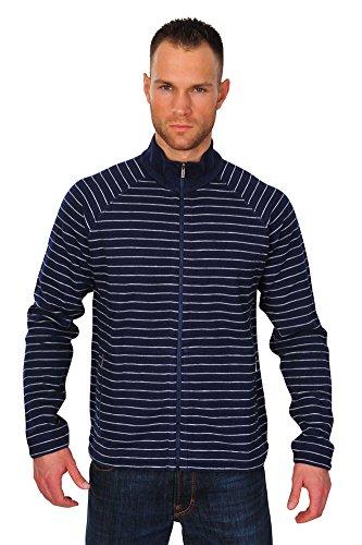 Zegna Sport Jacke Herren Blau Blau Baumwolle Casual XL
