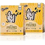 The Mumum Co. Mighty Melties – Natural, Healthy Freeze Dried Fruit Snack for Kids – Mango Banana, 10g X 4 (Pack of 2 Boxes)