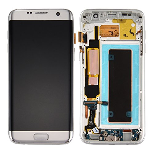 DELANSHI Handy-Ersatzteile Ersatz-LCD-Display + Touchscreen Digitizer Assembly & Frame & Ladeanschluss Board & Lautstärketaste & Power-Taste Compatible with Samsung Galaxy S7 Edge / G935A -