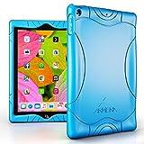 Armera iPad 9.7 Zoll 2018 2017 Hülle - [Welle Stoßstange Serie] Leichte Rutschfeste Stoßfeste Silikon Schutzhülle Tasche Case Cover für Apple iPad 9,7'' 2018 / 2017 Neue Modell, Blau
