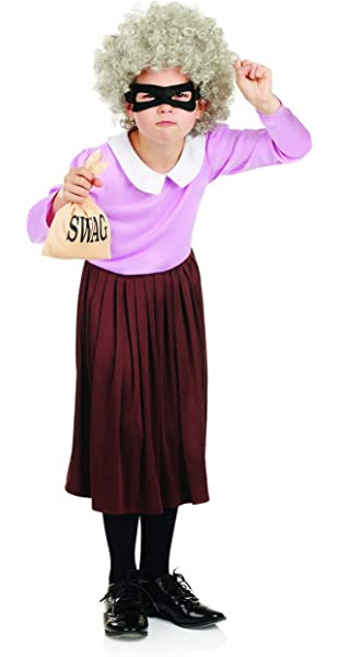 Gangsta Granny Fancy Dress Costume Choice of Size.