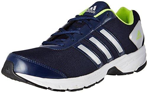 Adidas Unisex Navy Yellow and Silver Running Shoes - 10 UK/India (44.67 EU)