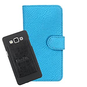 DooDa PU Leather Wallet Flip Case Cover With Card & ID Slots For iberry Auxus AXO4i - Back Cover Not Included Peel And Paste