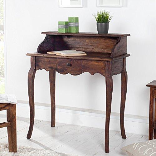 Braun Sekretär Schreibtisch (EDLER HOLZ SEKRETÄR NAPOLEON | Mahagoni, Massivholz, braun, 80 cm | Schreibtisch)