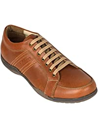 tZaro TUV Genuine Leather Sporty Look Lifestyle Shoes