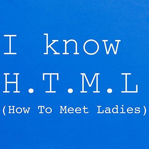 HTML T-Shirt, Herren Royalblau