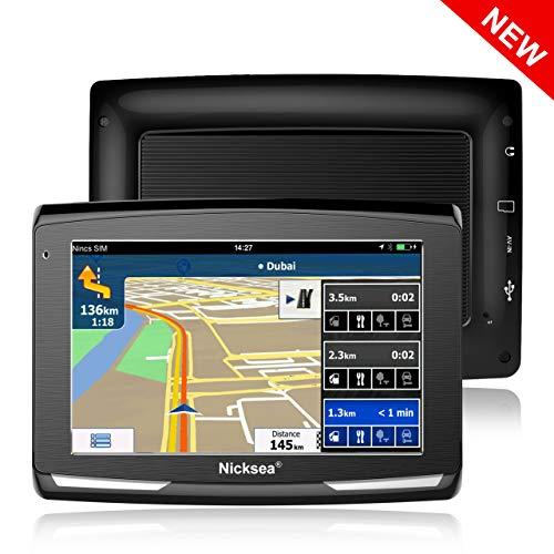5' GPS Automatique de Voiture Moto 8GB, NickSea Appareil de Navigation Écran Tactile, Intégrer le Système des Instructions Vocales, Système de Navigation Avec Multi-languages (Gratuits...