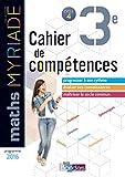 Myriade Cahier compétences 3e 2018