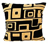 Xinantime Sofa Bed Home Decoration Geometry Pattern Pillow Case Cushion Cover (Yellow)