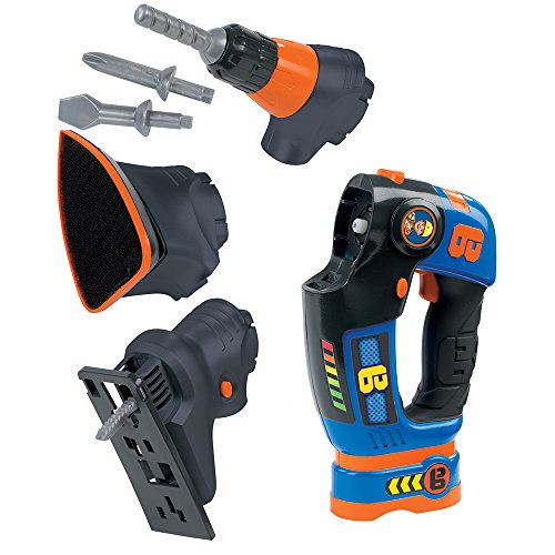 Set de herramientas 3 en 1 de Bob el Constructorcon funciones electrónicas (Smoby 360132)
