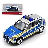 BMW X1 E84 SUV Polizei Bayern Silber Blau 1. Generation 2009-2015 H0 1/87 Herpa Modell Auto mit individiuellem Wunschkennzeichen