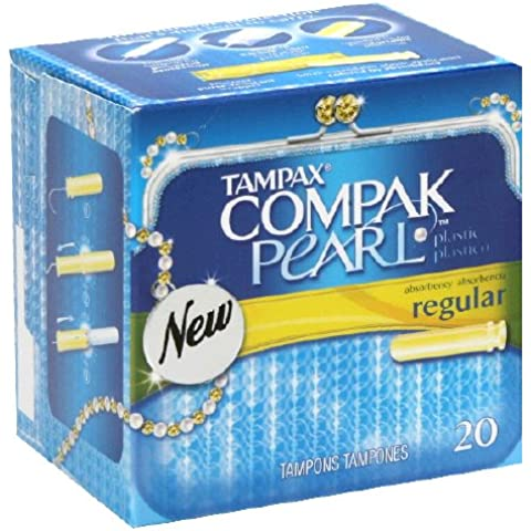 Tampax Tampax Compak Pearl Regular Absorbancy Plastic Tampons, 20 each