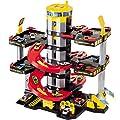 Parkgarage mit 5 Ebenen, Tankstelle und Hubschrauberlandeplatz, 65x73 cm: Spielzeug Auto Garage Spielstrasse Spielzeugauto Parkhaus von H-Molto