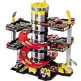 Parkgarage mit 5 Ebenen, Tankstelle und Hubschrauberlandeplatz, 65x73 cm: Spielzeug Auto Garage Spielstrasse Spielzeugauto Parkhaus