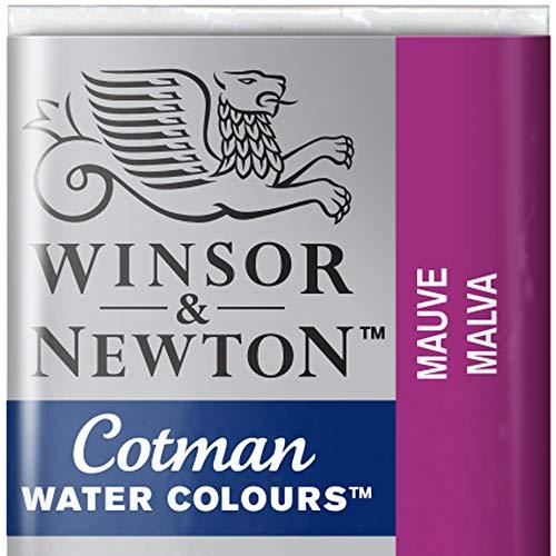 Winsor & Newton 0301696Cotman-Acuarelas, Viridian, Malva, 1,9x1,6x1,1 cm