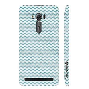 Asus ZenFone 2 Laser-500 CHEVRON BLUE N WHITE designer mobile hard shell case by Enthopia