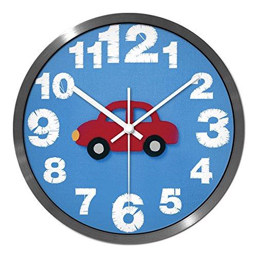 Mmynl.c grande numero di metallo orologio da parete silenzioso non-decorativi ticchettio orologio da parete per hotel bar ufficio soggiorno letto cucina 14 pollici
