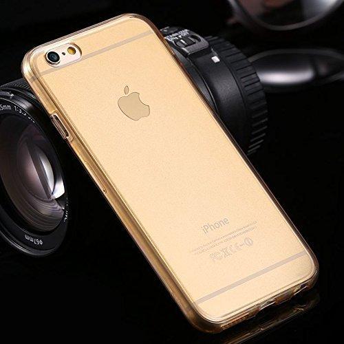 Coque iPhone 5S, iPhone SE Coque en Silicone, SainCat Ultra Slim Transparent Silicone Case Cover pour iPhone 5/5S/SE, Coque 360 Degres Avant et Arriere Coque Full Body Anti-Scratch Soft Gel Cover Coqu Or