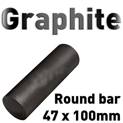 Graphit Rundmaterial 47mm x 100mm lang Zylinder Elektrode Stab Kohlenstoff 4