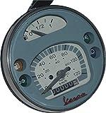 RS Vintage Parts RSV-B018FVKPE6-01411 Motorrad-Teile A87 Tachometer/Tacho Vespa LML PX Lusso 80, 125, 150, 200, 120Km/H/80 Mph, Grau