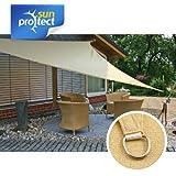 sunprotect 83221 Professional Toldo / Vela de Sombra, 3.6 x 3.6 m, Triángulo, beige